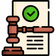 Icon representing legal matters