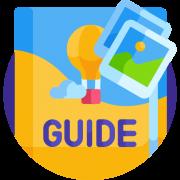 Icon representing a guide
