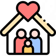 Icon representing a happy surrogate family
