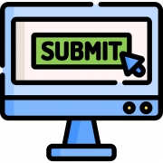 Icon representing submitting an application